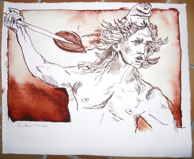 Krieger - Zeichnung von Susanne Haun