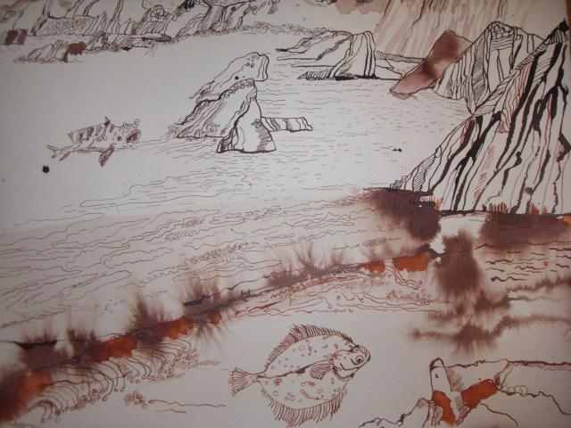Ausschnitt Trauminsel II - Zeichnung von Susanne Haun