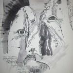 Phantom I - Zeichnung von Susanne Haun - 40 x 30 cm, Tusche auf Bütten