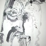Phantom II - Zeichnung von Susanne Haun - 40 x 30 cm, Tusche auf Bütten