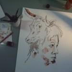 Entstehung Teil 2 Zeichnung Stiermann von Susanne Haun