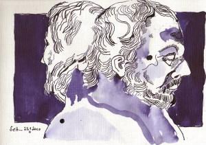 Sykutris - Zeichnung von Susanne Haun - Tusche auf Bütten - 20 x 30 cm