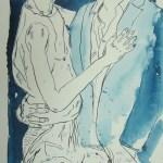Das Alter - Zeichnung von Susanne Haun - 60 x 25 cm - Tusche auf Bütten