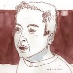 Mein Sohn - Zeichnung von Susanne Haun - 20 x 30 cm - Tusche auf Bamboo Papier