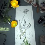 Ranunkeln von Gerda - Foto / Zeichnung von Susanne Haun