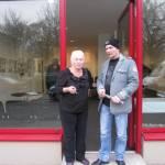 Andreas und Christina Illigner, Vorsitzende des Förderverein der Graphothek - Foto von Susanne Haun