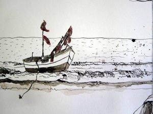 Frei sein - Zeichnung von Susanne Haun - 15 x 20 cm - Tusche auf Bütten