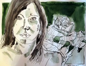 Die Schönheit der Jugend - Zeichnung von Susanne Haun - 30 x 40 cm - Tusche auf Bütten