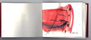 Annette Marx, Seite aus einem kleinen Buch, 10 x 15 cm