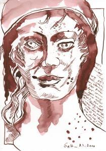 Wer ist Susanne Haun - Zeichnung - Tusche auf Bütten, 17 x 24 cm