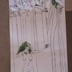 Ausschnitt Rolle Susanne Haun - 120 x 40 cm - Tusche auf Bütten