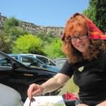 Zum Schutz gegen die Sonne habe ich mir ein Handtuch auf den Kopf gelegt - Foto von Conny Niehoff