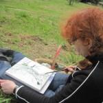 Ich beim zeichnen - Foto von Conny Niehoff