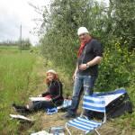 Andreas und ich beim Malen - Foto von Conny Niehoff