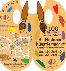 Einladung 9. Hildener Künstlermarkt