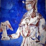 Athena - Zeichnung von Susanne Haun - 48 x 36 cm - Tusche auf Bütten