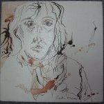 Selbst - Zeichnung von Susanne Haun - 20 x 20 cm - Tusche auf Leinwand - gefirnist