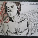 Morgenstimmung - Zeichnung von Susanne Haun - 15 x 20 cm - Tusche auf Bütten