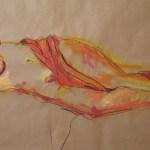 G. legt Wert auf ihr Äußeres - Zeichnung von Susanne Haun - 60 x 80 cm - Acryl und Ölkreide auf Packpapier