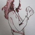 Entstehung Eva - Zeichnung von Susanne Haun