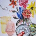 Entstehung Stillleben von Susanne Haun