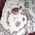 Princes Auge - Zeichnung von Susanne Haun - 17 x 24 cm - Tusche auf Bütten