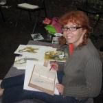Ich beim Zeichnen im Georg Kolbe Museum - Foto von Conny Niehoff