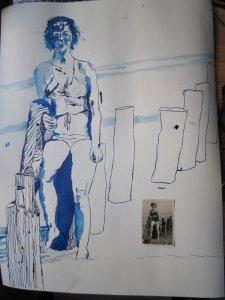 Entstehung Frau an der Ostsee, Zeichnung von Susanne Haun