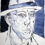 Beuys - Zeichnung von Susanne Haun - 40 x 30 cm - Tusche auf Bütten