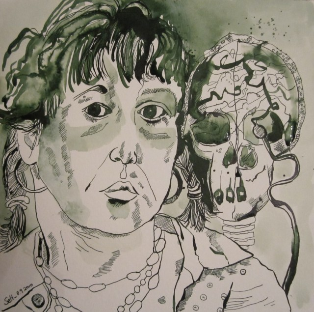 Ich - Zeichnung von Susanne Haun - 25 x 25 cm - Tusche auf Bütten
