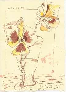 Und wie liebevoll selbst die kleinsten Blüten von meiner Mutter in Vasen gestellt werden
