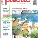 Titelseite der Palette, in der mein Artikel über Radierung steht