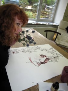 Ich mit Ophlia - Selbstfoto von Susanne Haun
