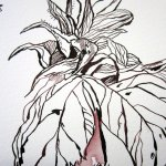 Ausschnitt 3 Orphelia Zeichnung von Susanne Haun