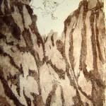 Boris war so kraftvoll - 2004 - Radierung von Susanne Haun - 25 x 15 cm - Aquatinta, 2 Platten