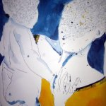 Entstehung Maria Zeichnung von Susanne Haun, 80 x 60 cm