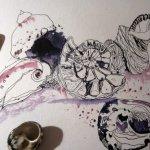 Eine hab ich noch - Entstehung Zeichnung von Susanne Haun
