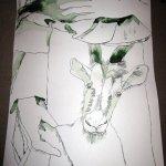 Engelshände - Entstehung Zeichnung Susanne Haun - 1000 x 40 cm