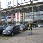 Ich vor der ehemaligen AOL - Arena - Foto von Andreas Mattern