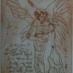 Engel Version 14 – Radierung von Susanne Haun – 20 x 15 cm – Strickätzung
