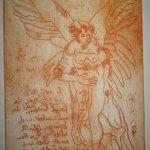 Engel Version 16 – Radierung von Susanne Haun – 20 x 15 cm – Strickätzung