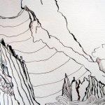 Ausschnitt Bergmassiv - Zeichnung von Susanne Haun