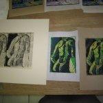 Auch Linolschnitte finde ich in meinen Kartons - Foto und Schnitte von Susanne Haun