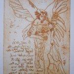 Engel Version 3 - Radierung von Susanne Haun - 20 x 15 cm - Strickätzung
