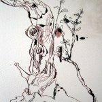 Die Zeichnung Bonsai schließt sich langsam - Susanne Haun