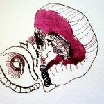 Das Blüteninnere - Entstehung Zeichnung Susanne Haun