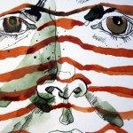 Andererseits kann ich mit den roten Linien gut die Form des Kopfes zeigen - Susanne Haun