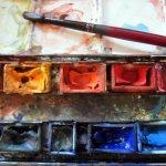 Ich beschliesse, Akzente mit meinen Aquarellfarben zu sezten - Foto von Susanne Haun