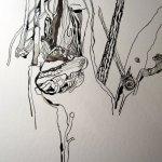Baumrinde - Ausschnitt Zeichnung von Susanne Haun