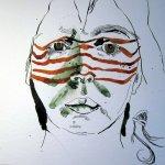 Noch sieht es aus, als ob ich eine Maske auf habe - Susanne Haun